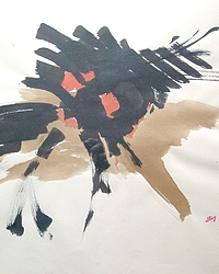 Dolorès Ling, composition abstraite 1970-80
